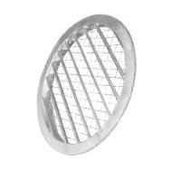 Grila circulara de exterior, din aluminiu, cu jaluzele fixe si plasa de sarma, ALAV 200, fig. 1
