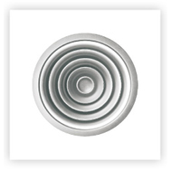 Anemostat circular din aluminiu, culoare alba RAL9016, CD-R 200, fig. 1