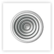 Anemostat circular din aluminiu, culoare alba RAL9016, CD-R 250, fig. 1