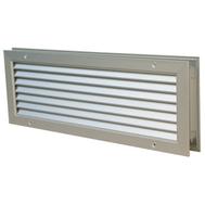 Grile de transfer din aluminiu, pentru montare in usa sau perete, culoare alba RAL 9016, GTA-C 200*100, Brofer Italia, fig. 1