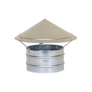 Caciula de ventilatie circulara, cu refulare orizontala, pentru tubulatura Ø100, fig. 1