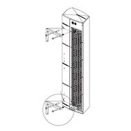 Set de suport pentru montaj vertical GUARD C-0303_00, fig. 1