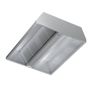 Hota centrala din inox pentru bucatarii comerciale, fara ventilator, dimensiuni 2000 x 1500 mm, fig. 1