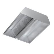 Hota centrala din inox pentru bucatarii comerciale, fara ventilator, dimensiuni 2500 x 1500 mm, fig. 1