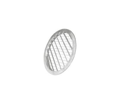 Grila circulara de exterior, din aluminiu, cu jaluzele fixe si plasa de sarma, ALAV 160, fig. 1