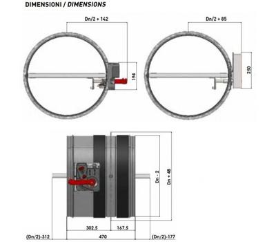Clapeta antifoc circulara, rezistenta la foc 120 minute, BTT-30 EURO D 630 mm, Brofer Italia, fig. 2