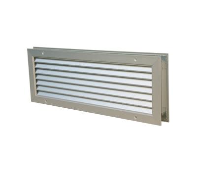 Grile de transfer din aluminiu, pentru montare in usa sau perete, de culoare alba, GTA-C 200*100, Brofer Italia, fig. 1