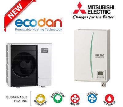Pompa de caldura Hydrobox aer-apa 8 kW Mitsubishi Electric Zubadan ERSC-VM2C + PUHZ-SHW-80VAA, fig. 1